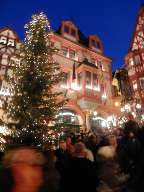 City hall and the Christmas tree