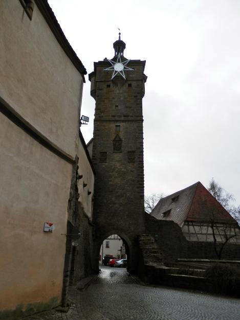 Arriving in Rothenburg.