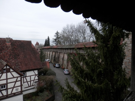 Part of the wall in Rothenburg