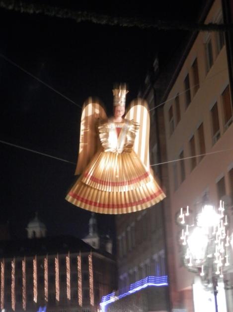 Angel marking the start if the market in Nürnberg